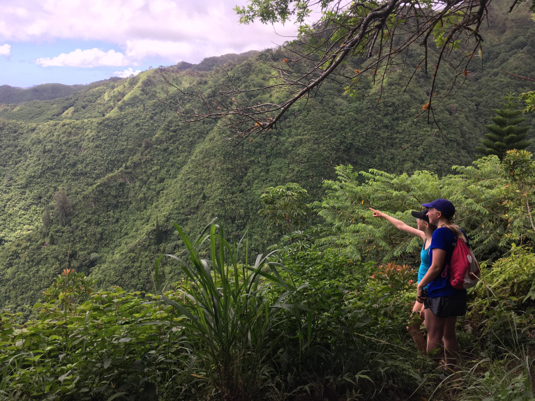 Ridge hiking with ocean views (Credit: Caroline Merner)