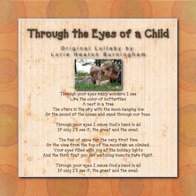 For Parents Everywhere - sung by Jill Burningham Tracy and Heidi Burningham Cottam