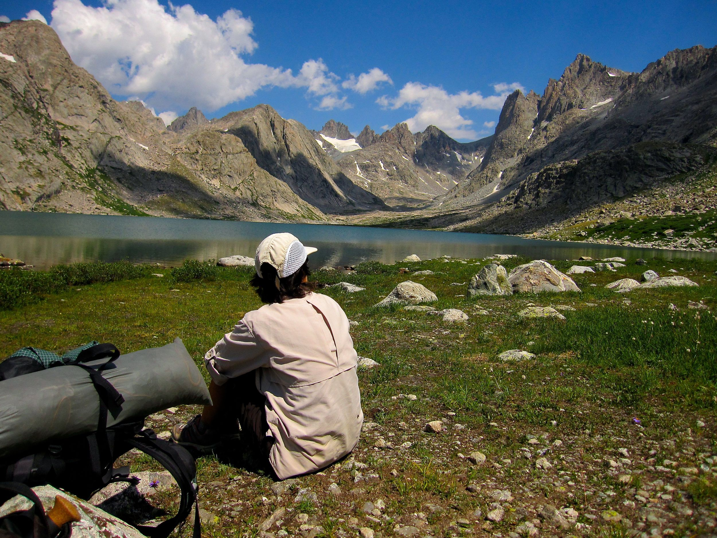 In the beautiful but usually crowded Titcomb Basin.