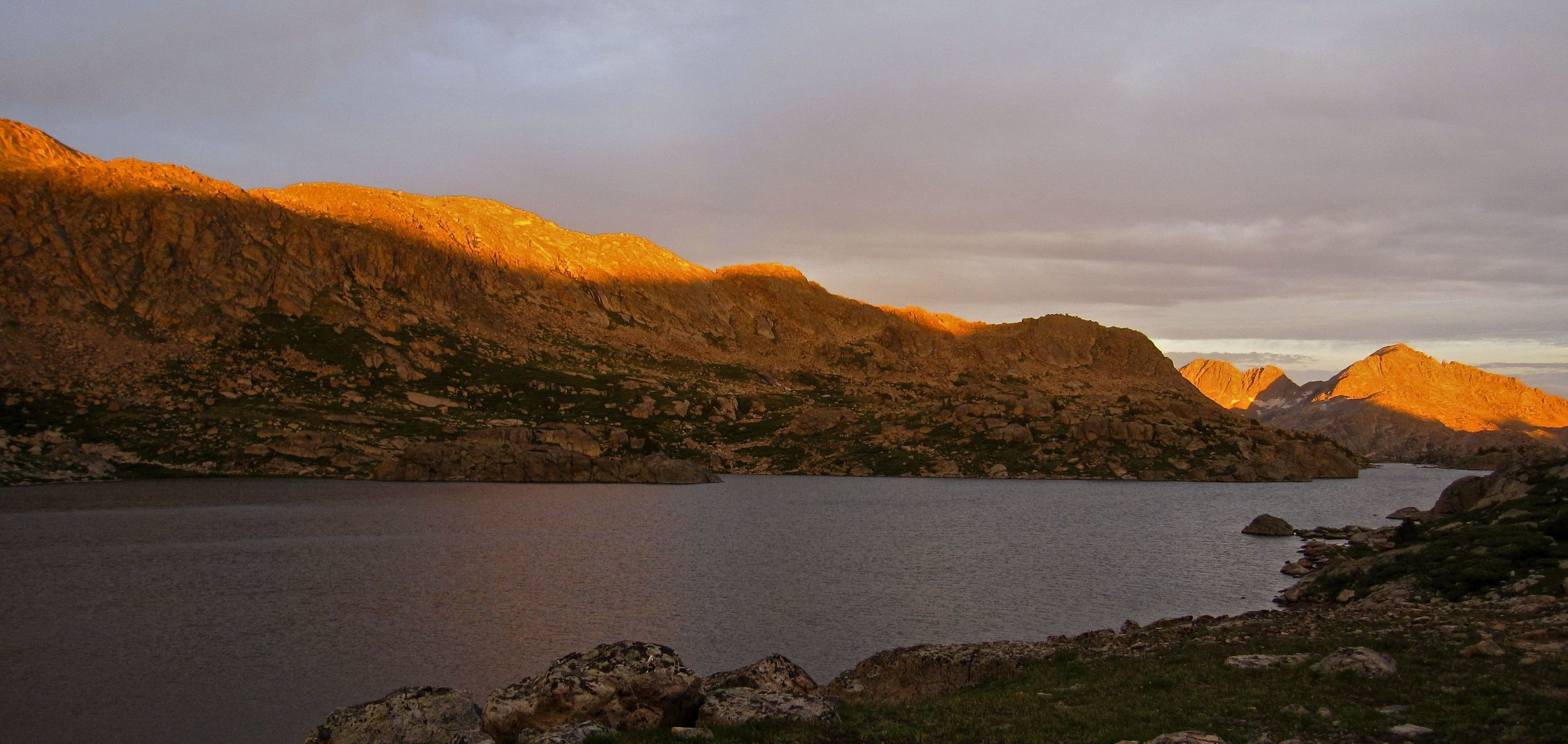 Sunset in the Wind River range.