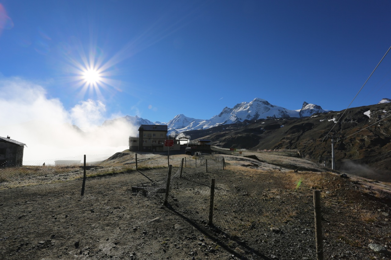 At Schwarzee Hut, we rose above the clouds.
