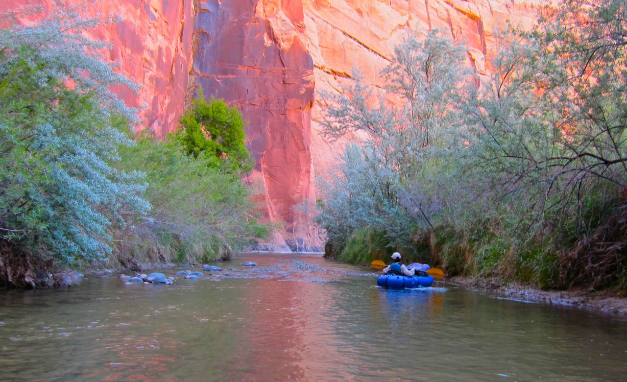 Packrafting in Escalante Canyon is the perfect introduction to paddling in southwestern Utah.