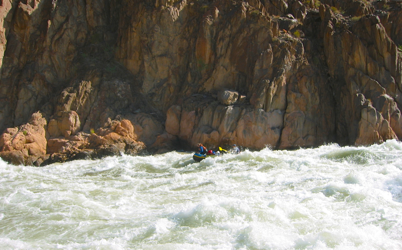Granite Rapids, We saw several rafts flip and send the occupants swimming down the rapid during the course of the day.