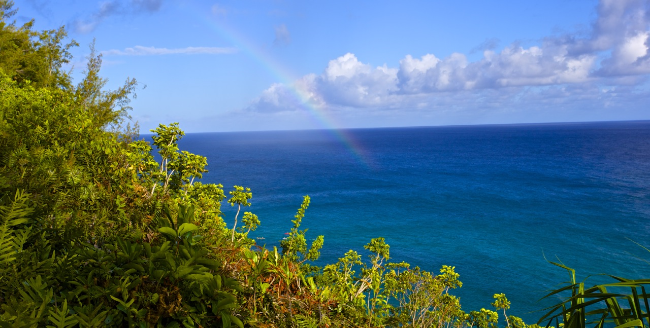 A sunny day on the north shore can produce a lot of rainbows.