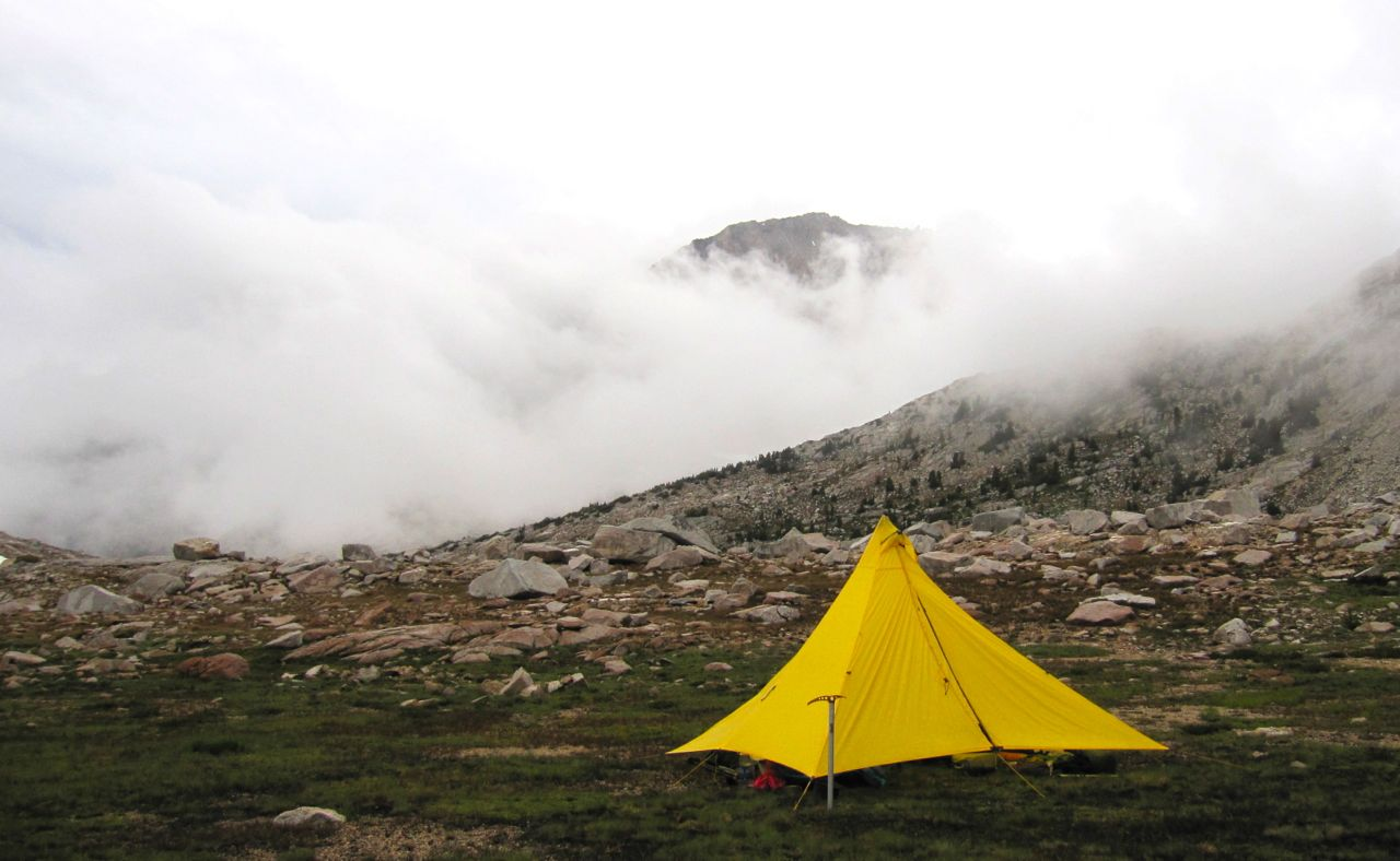 A stormy camp at Brown Bear Lake.