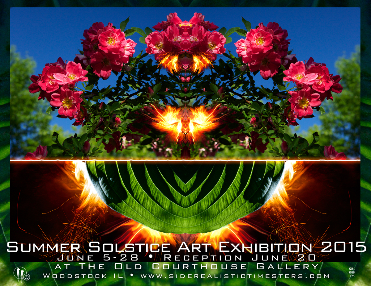 Summer Solstice Art Exhibition at The Old Courthouse Gallery - Woodstock Illinois 60098  June 5-28 • RECEPTION - June 20 - 6:30pm