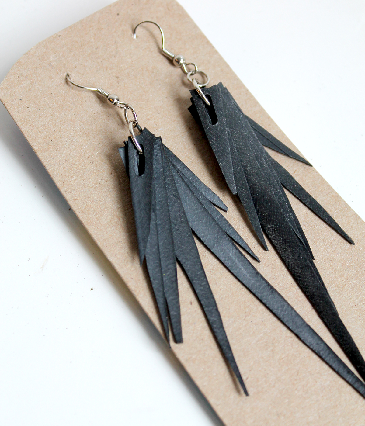 Recycled Bike Tire Earrings