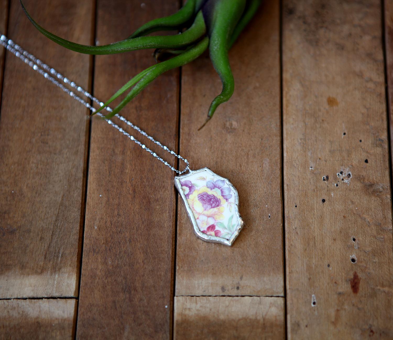 Ceramic necklace by Q & Q Nouveau, $40.