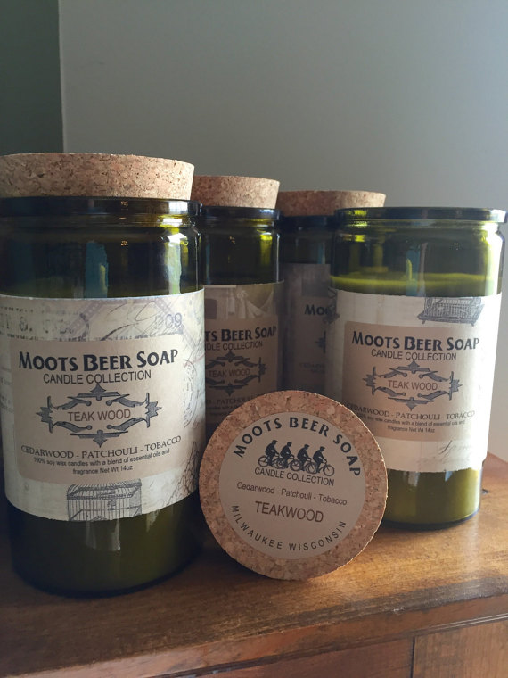 Moots Beer Soap Candle Collection Teakwood candle, $24.