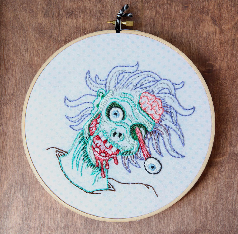 Zombie portrait, $40.