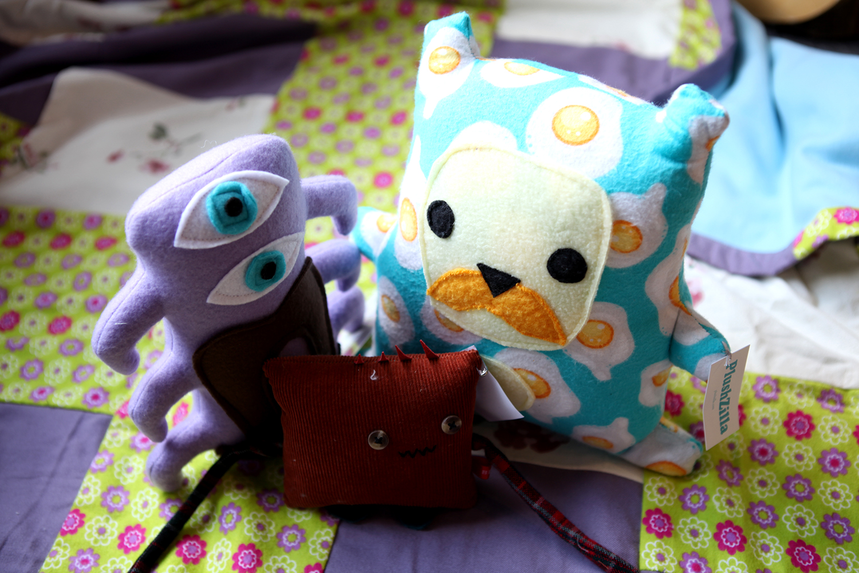 Stuffed animals from Plushzilla, Bebito and Monstrosity, $9-$35