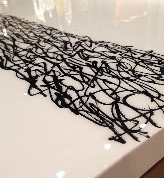 Black Krink & Resin 36'' x 60''