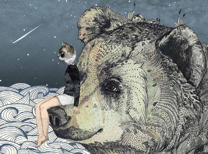 This enchanting image courtesy of children's book illustrator, Sandra Dieckmann.