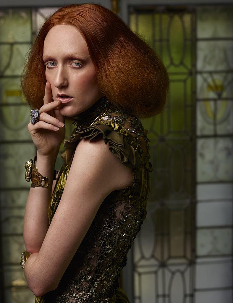 Model: Kim D Stylist: Leonid Gurevich Hair: Takayoshi Tsukisawa Makeup: Maraz using Makeup Forever Stylist's assistant: Marina Gurevich