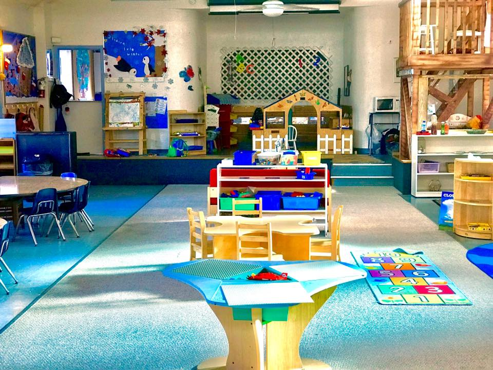 Our Preschool - The large, light filled preschool room has different Learning Centers that focus on reading, math, science, and social development.