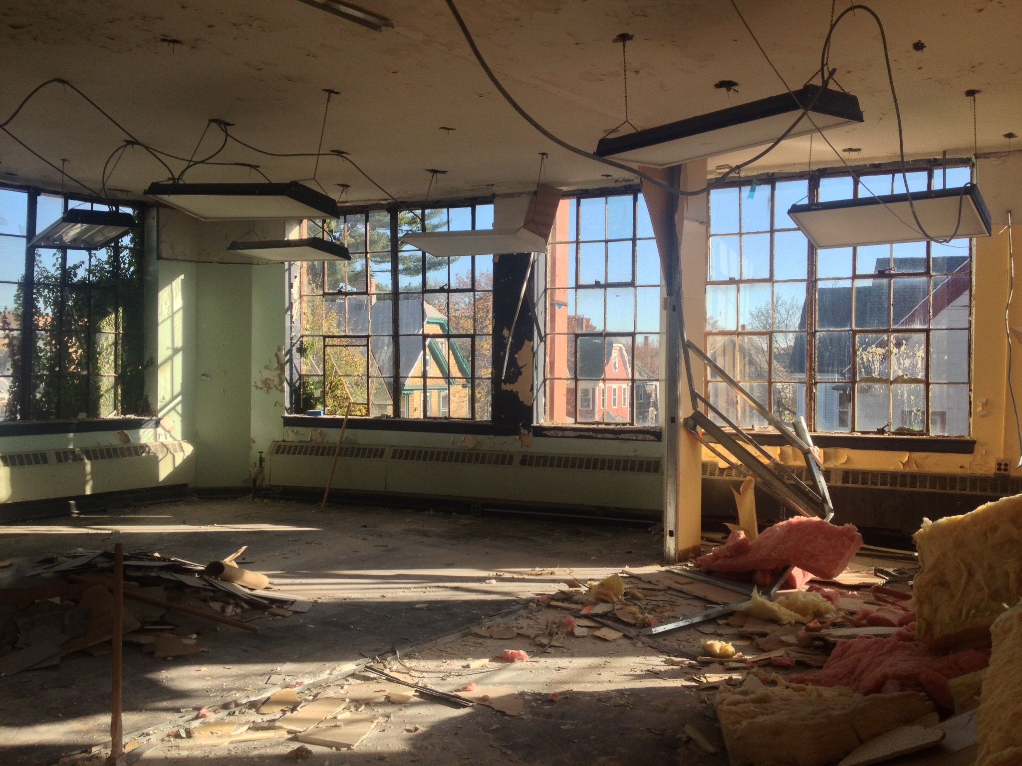 A sneak peak inside the spectacular space that will be the Off-Centre Lofts in Jamaica Plain