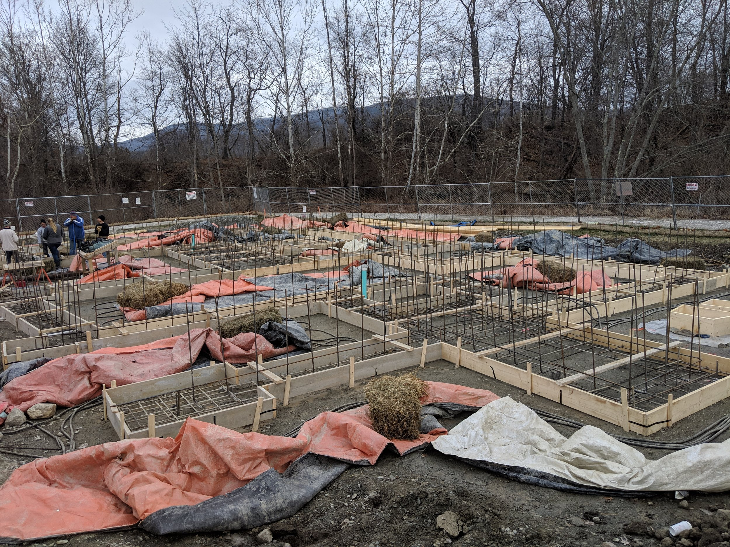 Foundations in at the Riverhouses at Cable Mills