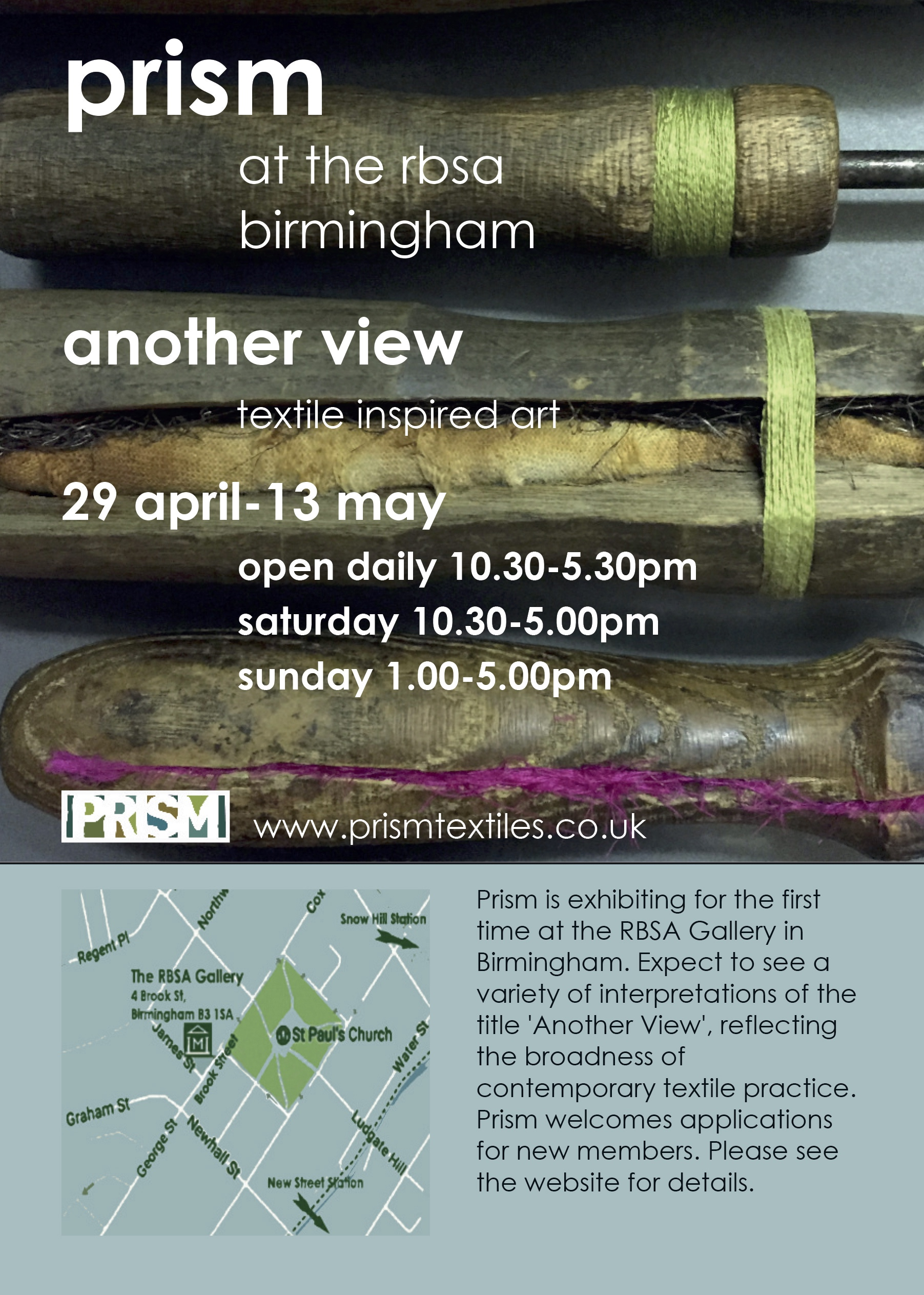 Claire will be exhibiting some of the Dorothy Smith work with Prism at the RBSA in Birmingham  29thApril - 13thMay 2017.