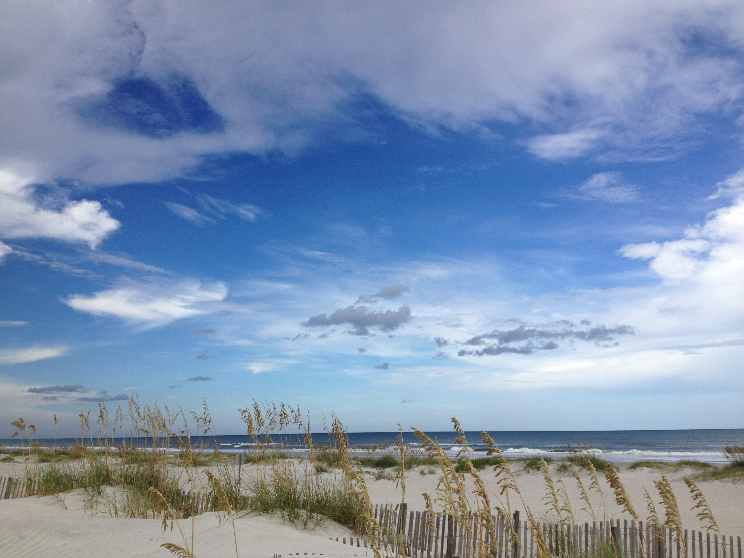 Midday at the July beach. St. Augustine 2012