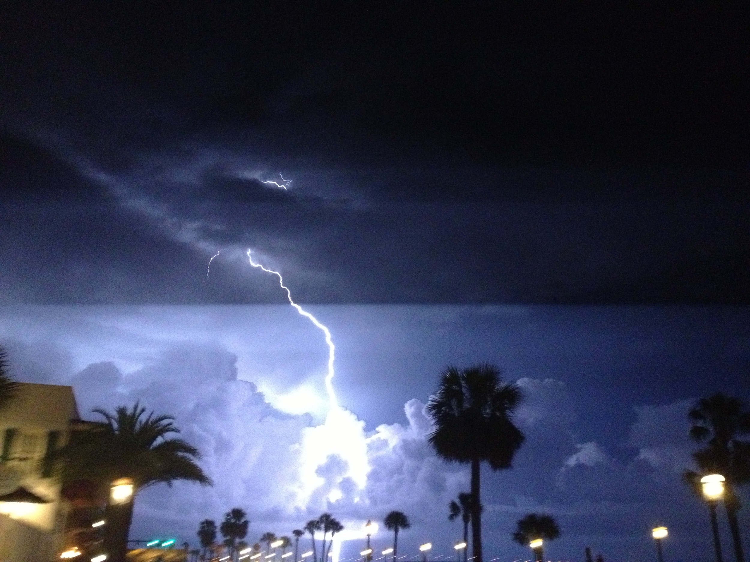 St. Augustine Lightening Storm through an iphone, 10-4-12