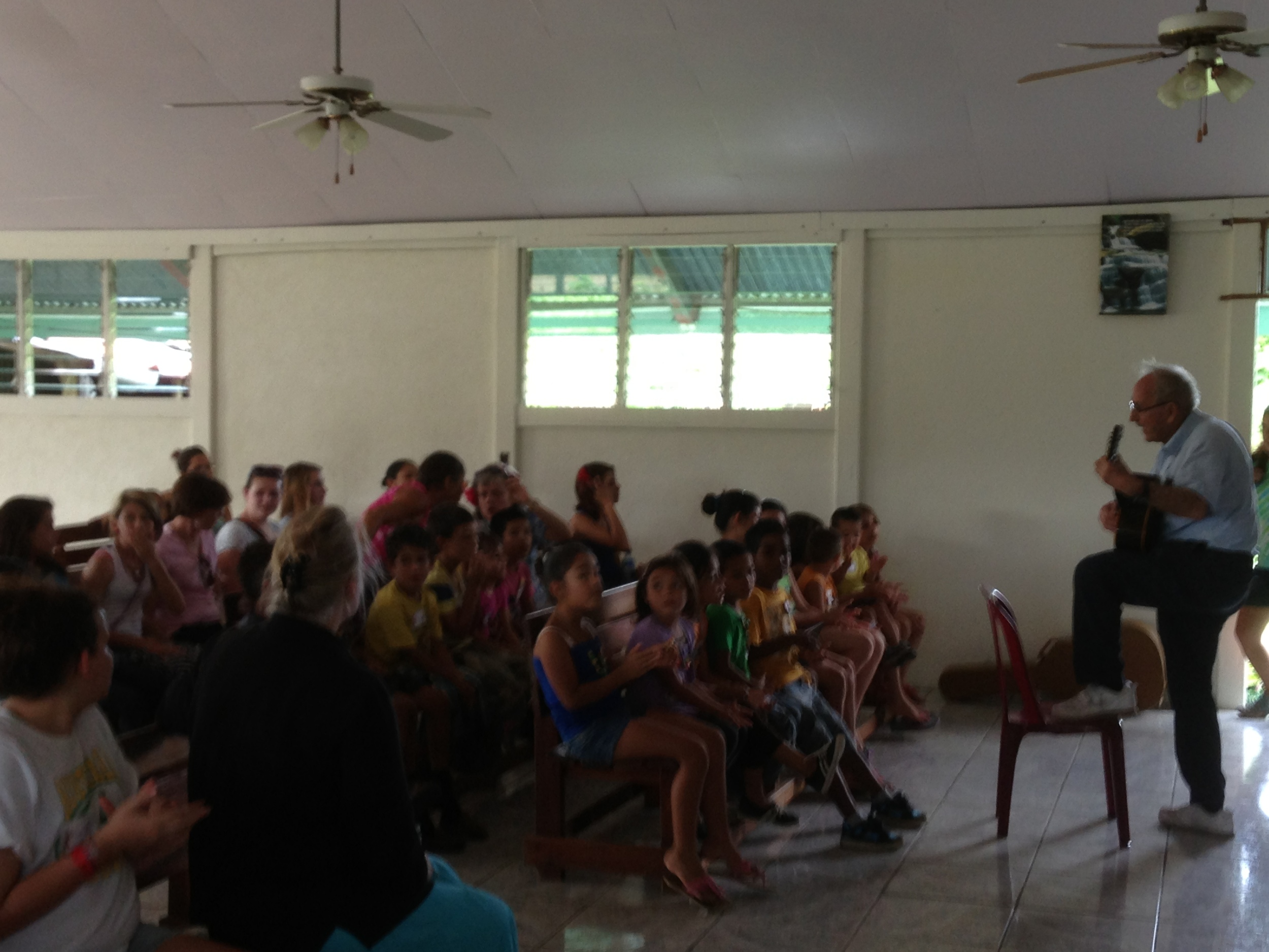 Songs with children in Santa Rosa Costa Rica
