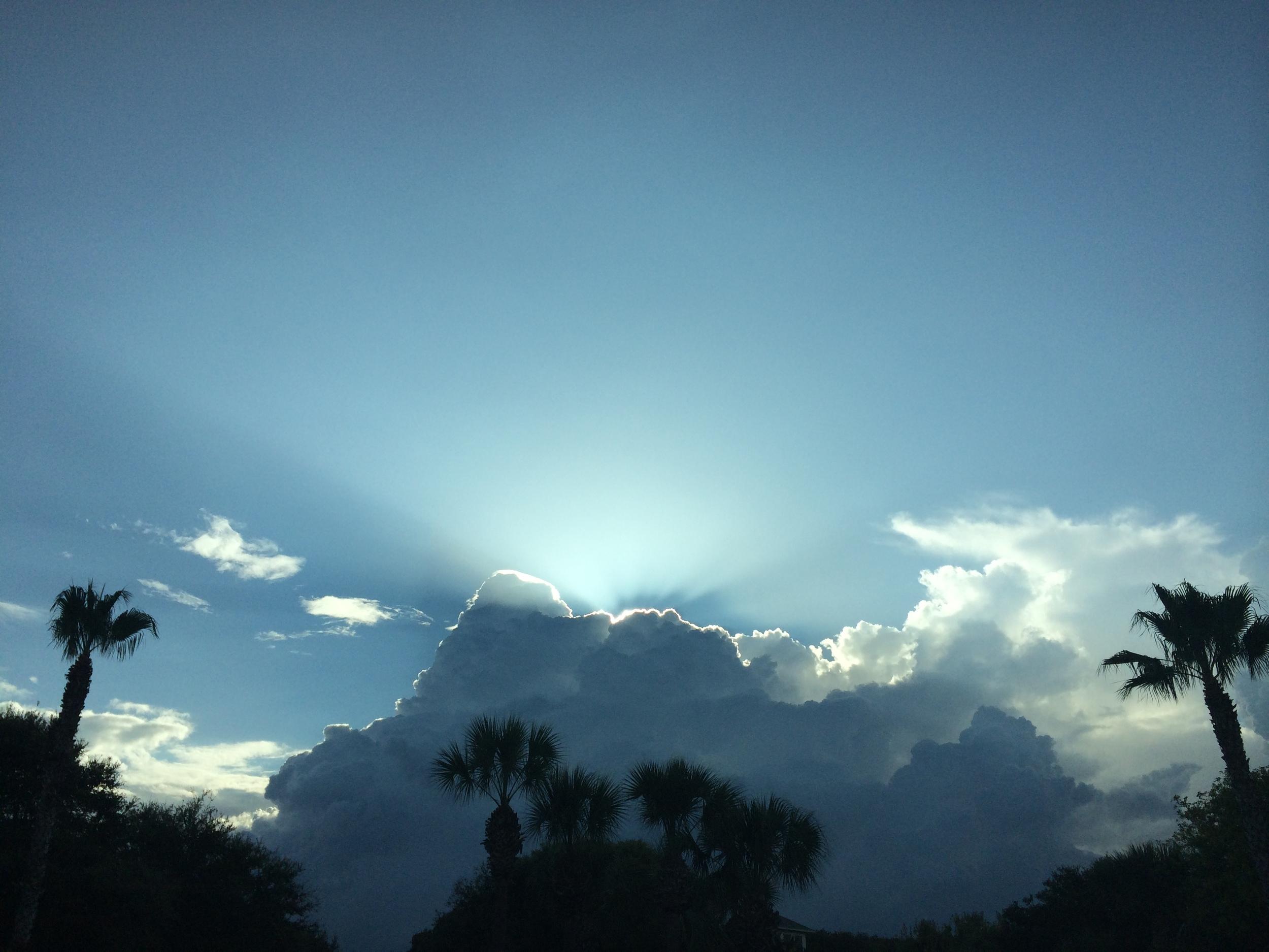 St. Augustine Sun Over My Neighborhood, July 2014