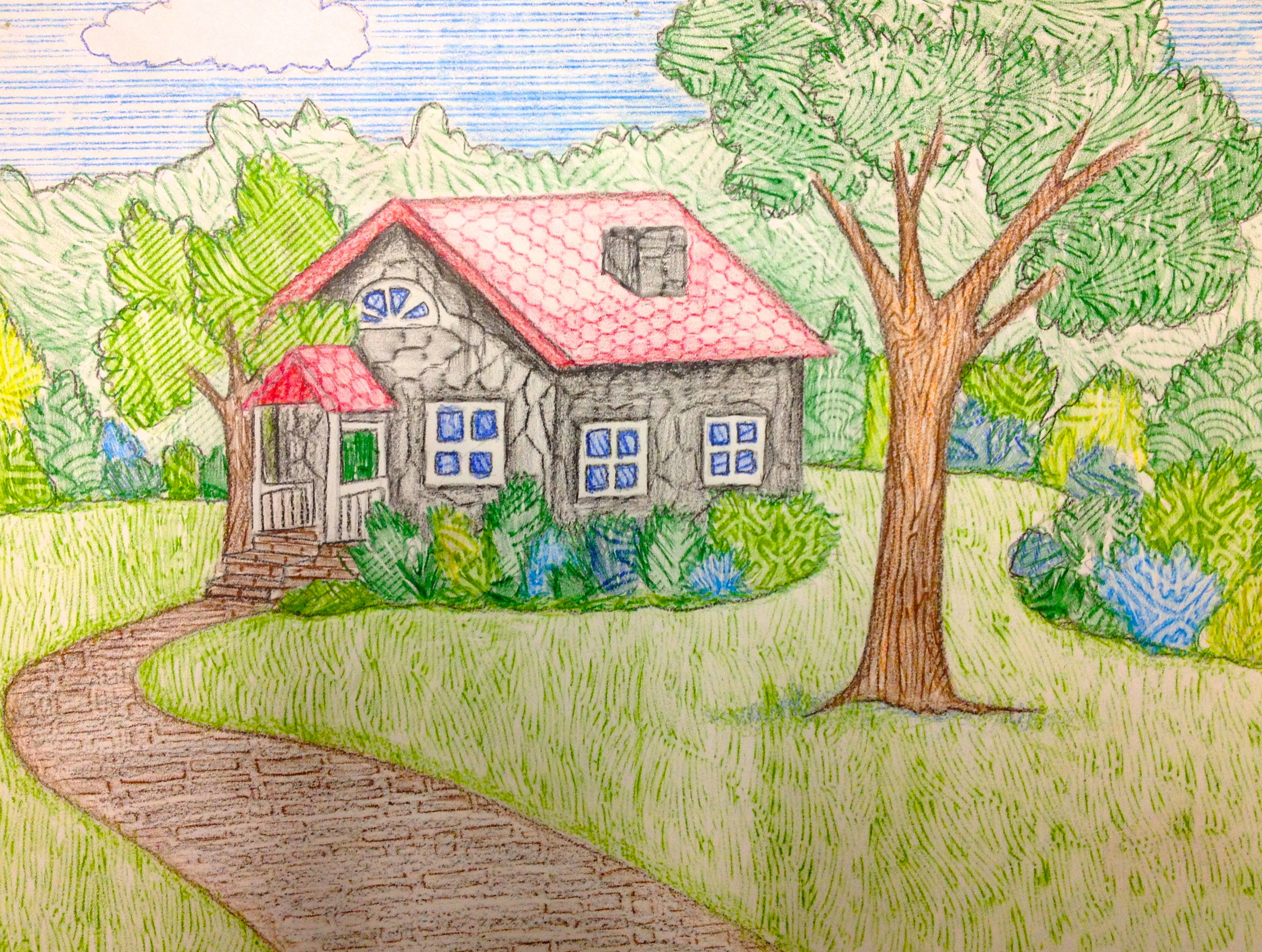 Landscape/Exterior with Rubbings