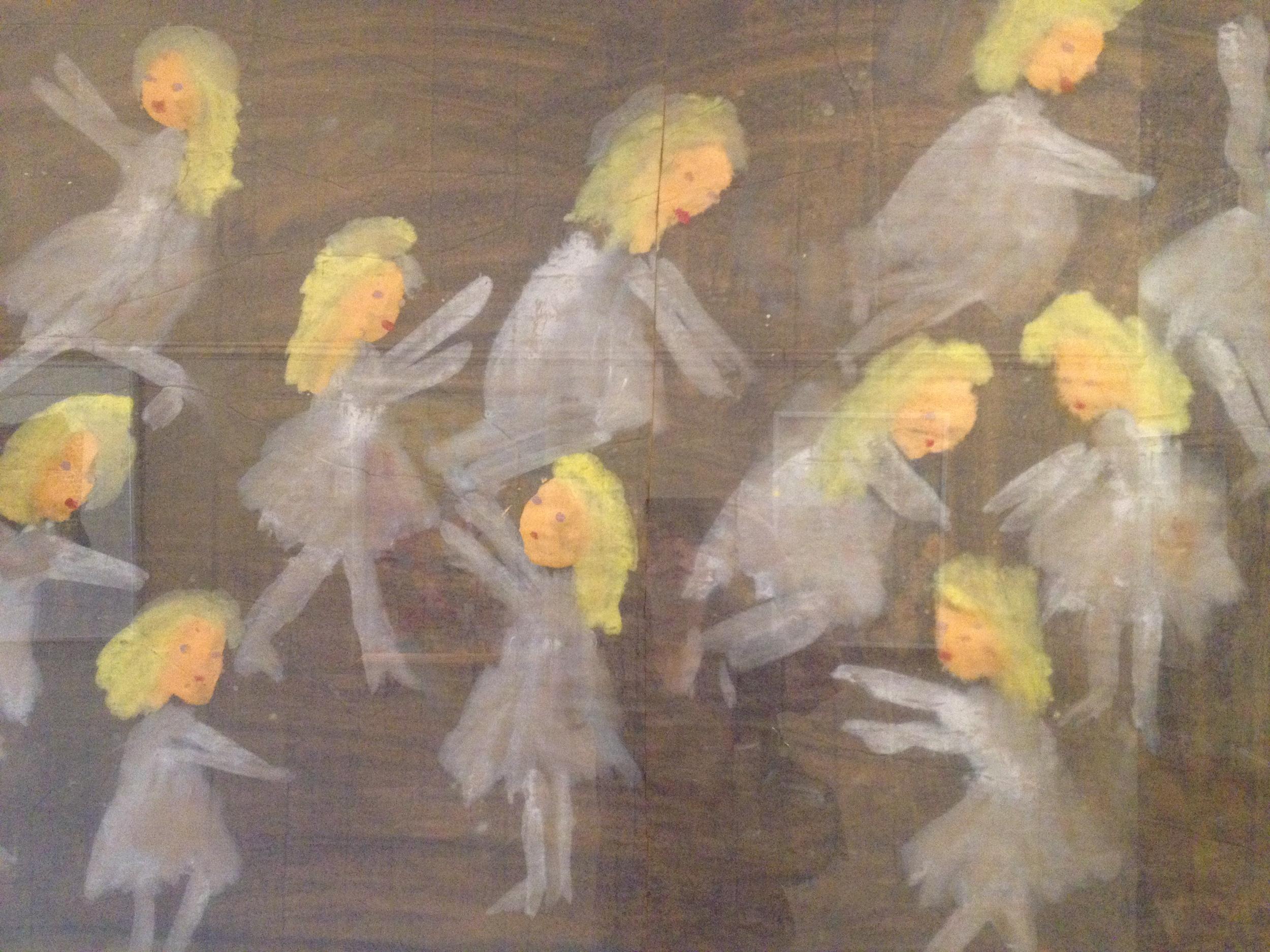 Dancing girls, I think, by Jimmy Lee Sudduth.