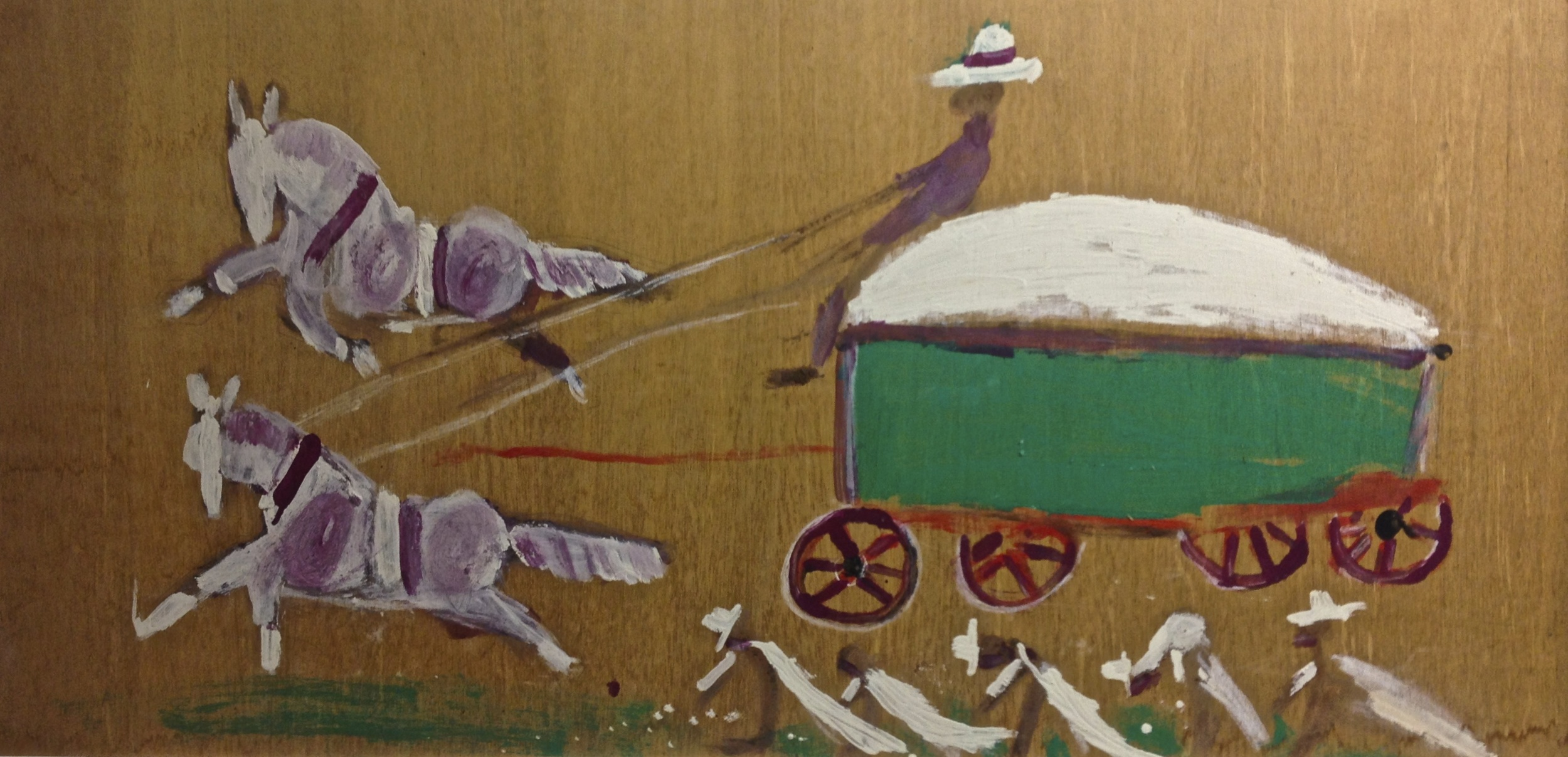 Jimmy Lee Sudduth cotton pickers and cotton wagon.