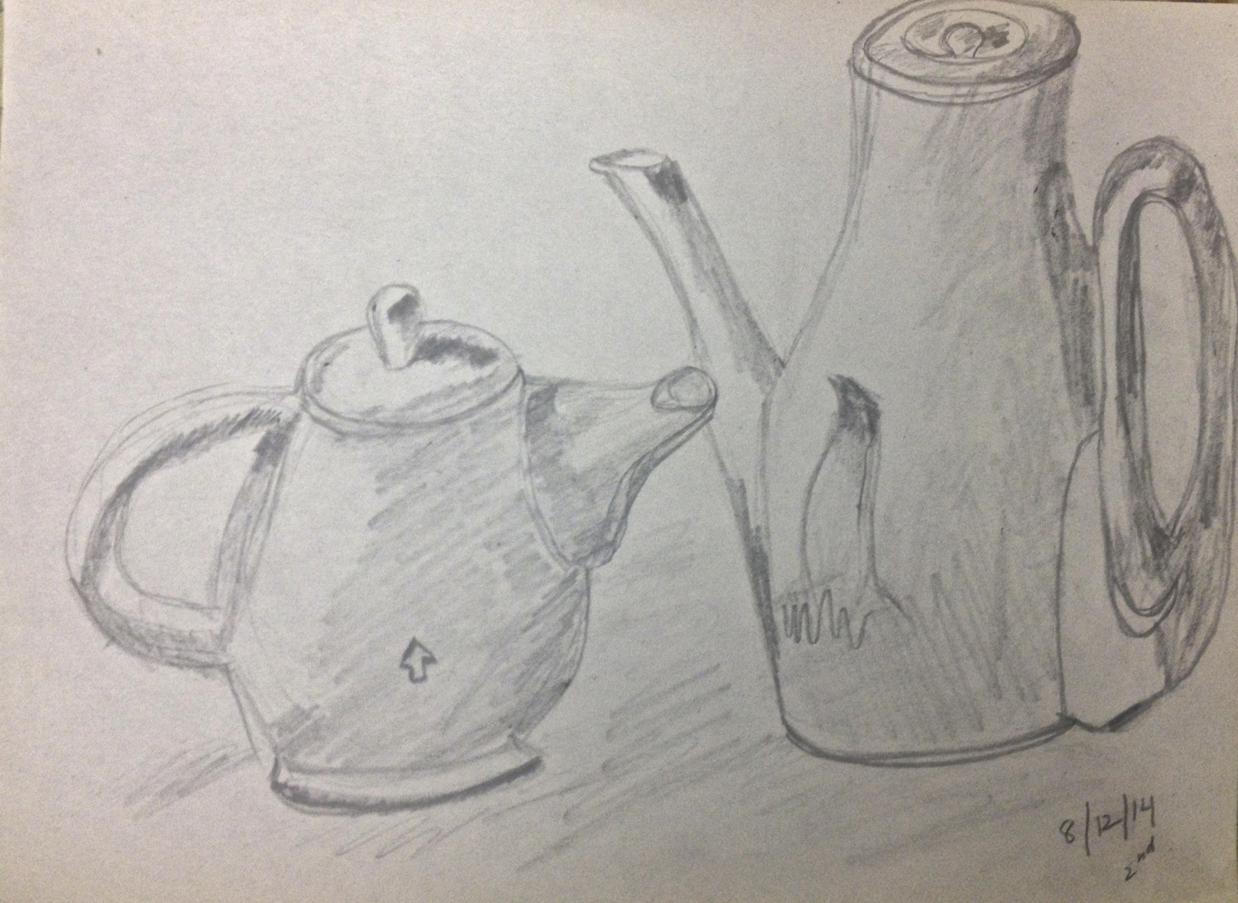 AFTER. Same student at the end of one of Dori's drawing classes. She caught on quick!