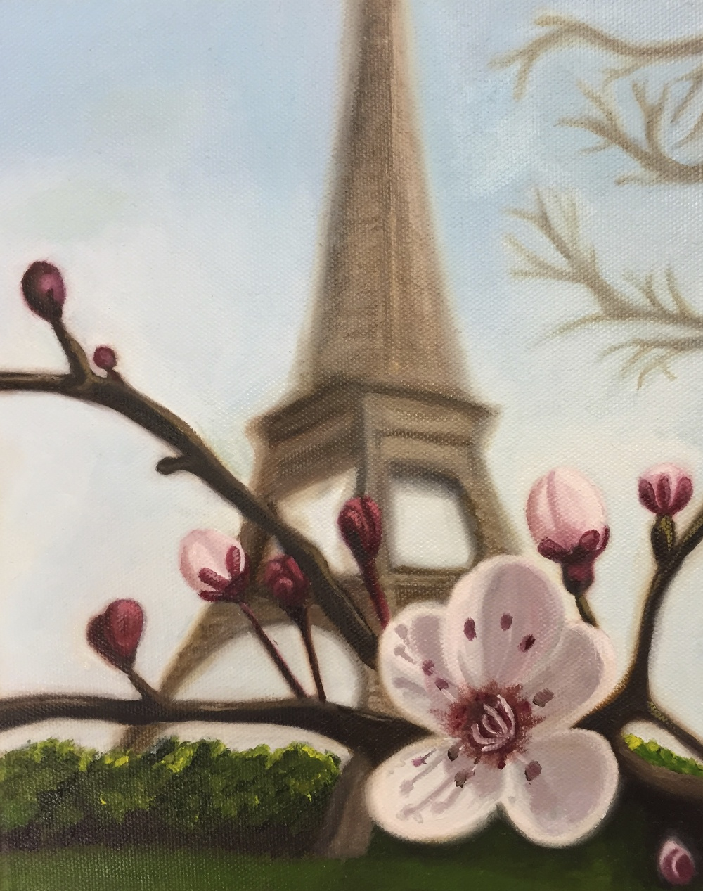 """April in Paris""  11"" x 14""  Oil on Canvas"