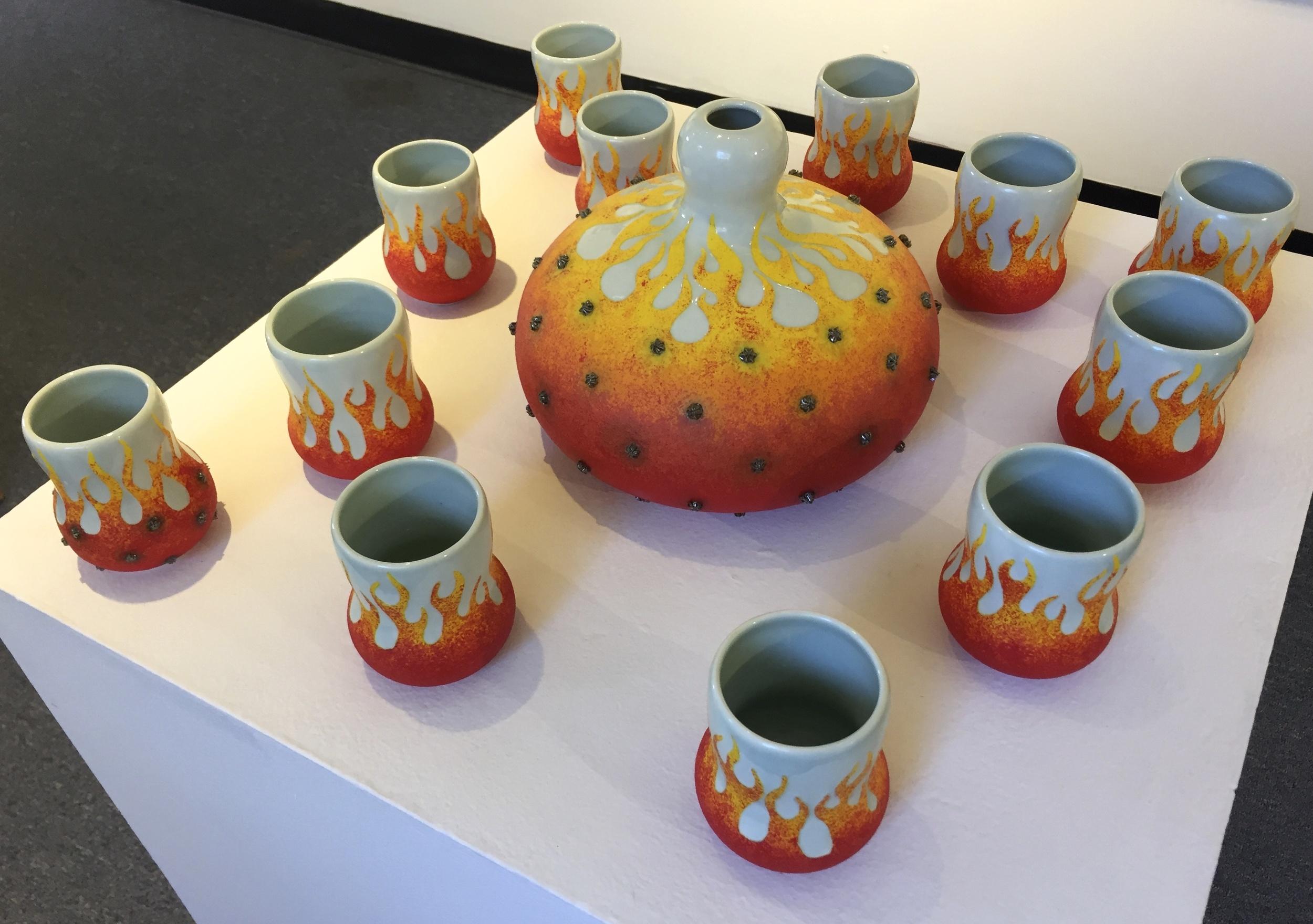 Scott Bennett vessel and cups