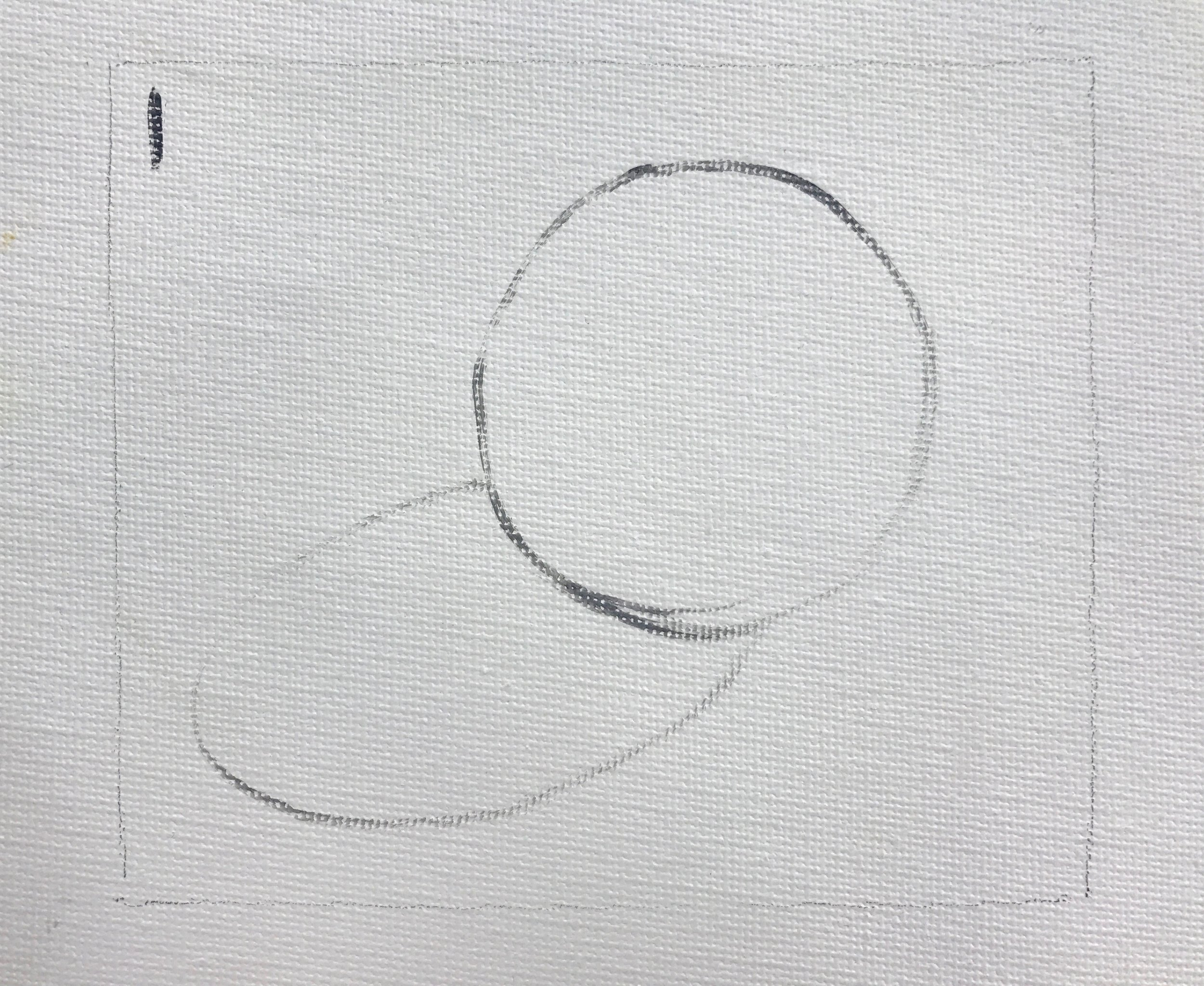 Draw sphere and cast shadow with paint.