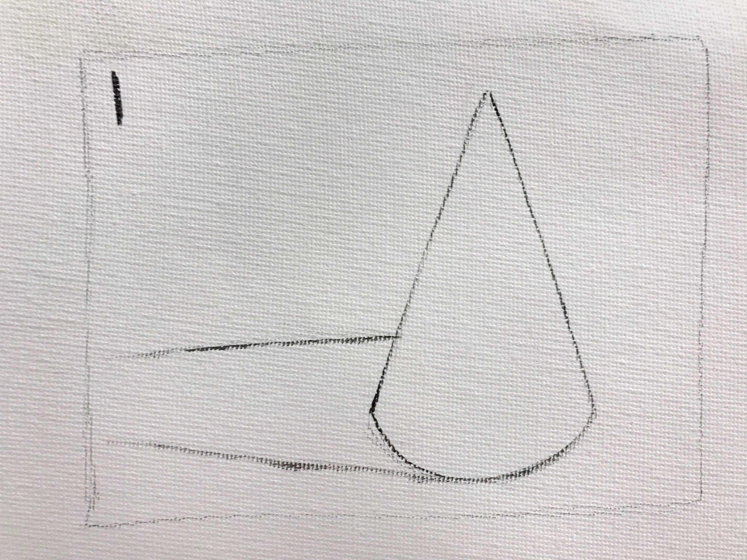 Draw out object and its cast shadow.