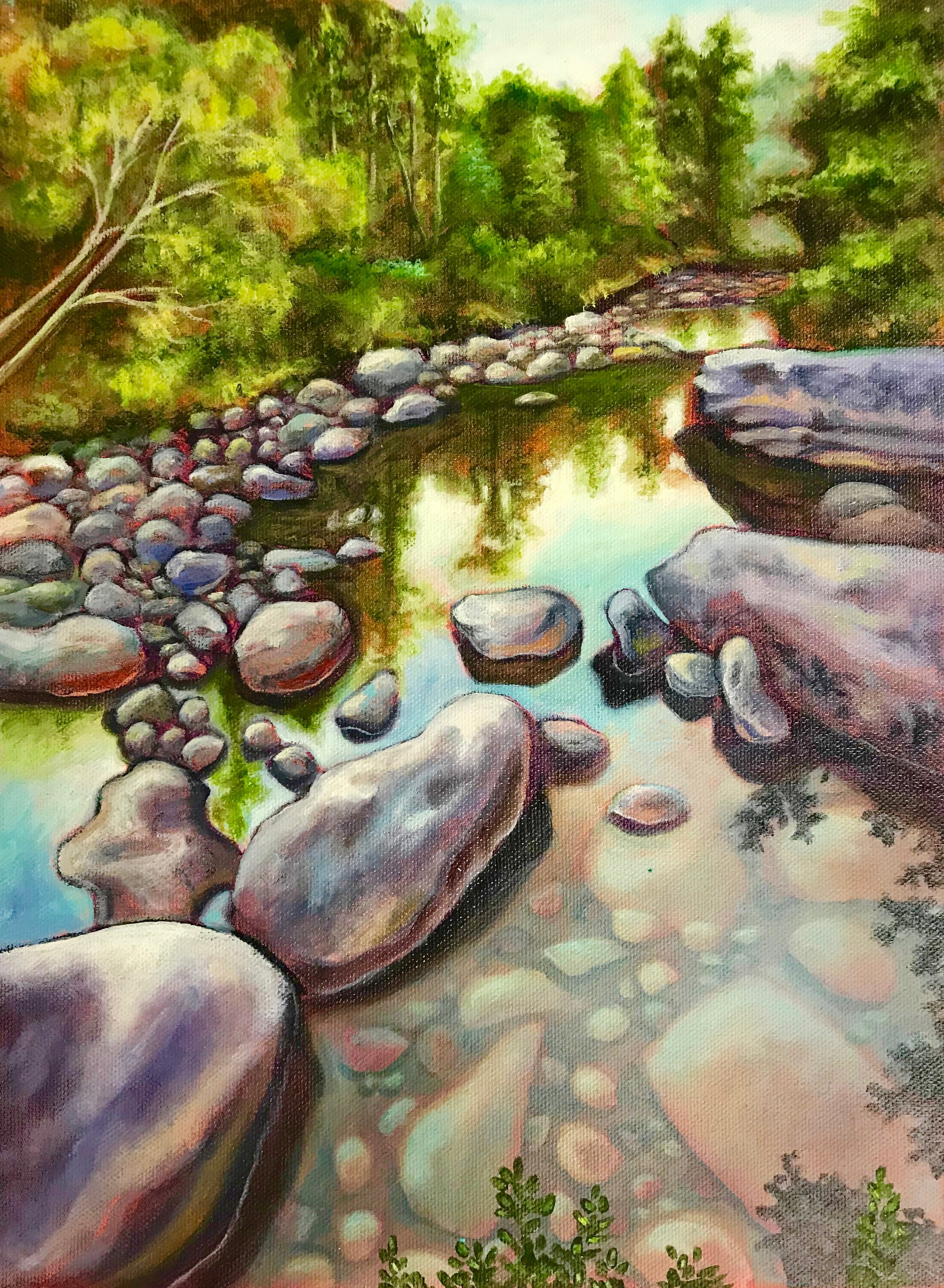 Landscape Preliminaries - This is not a tutorial, just step-by-step directions to get ready for your first landscape painting. You could paint this one if you like, but it's a lot more challenging than the suggested landscape photos. Plus, the photo for this one is old and crappy.