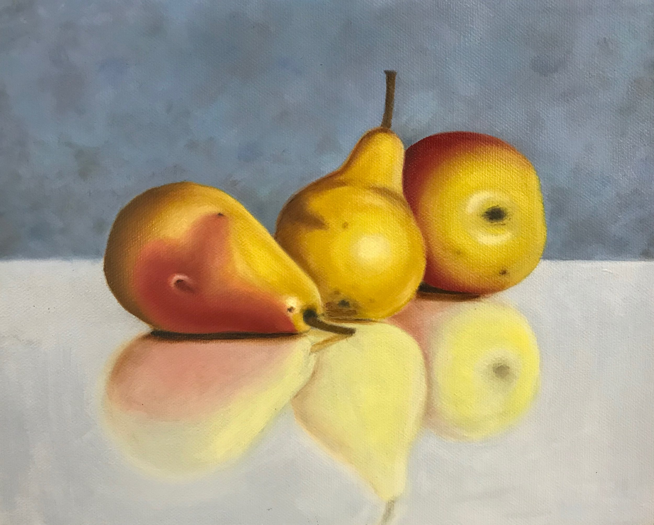 White Rules - Don't use white unless you see a pastel color. (Think of an Easter egg.) Skip it on your first coat on the fruit, but you may need it on the background. You will use it for highlights.