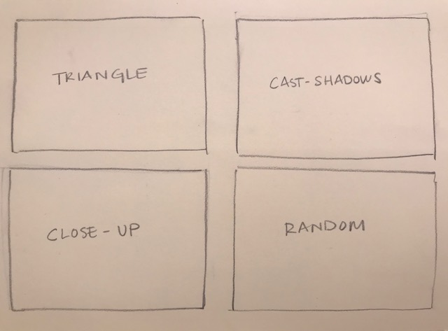 4. Random - Try an unusual grouping for the fourth composition. Be sure to make it different from the other studies.