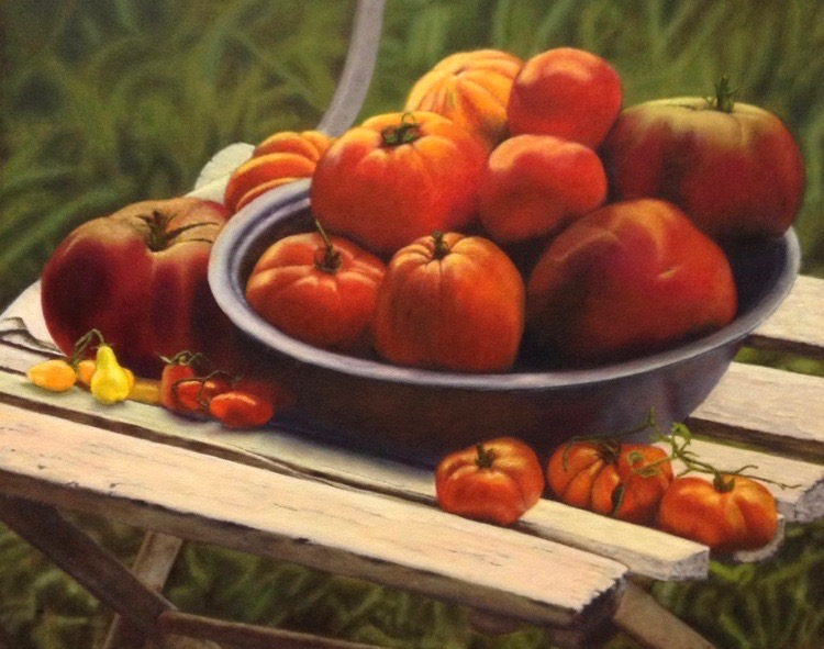 Fruit and Veggie Tutorials - Practice with these step-by-steps in addition to learning them in class. Painting by student Lisa Himic.