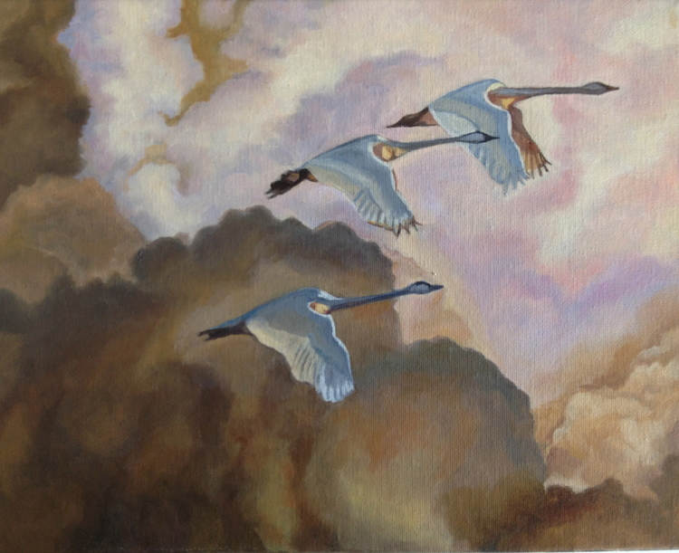 Composition - Learn the basics of how to place your imagery on your picture plane. Painting by student Jeanne Alexander.