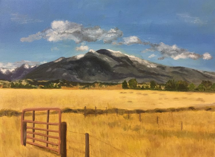 Starting your Landscape - All sorts of good stuff to remember as you go forward. Painting by Red Dot student Dale Turnbough.
