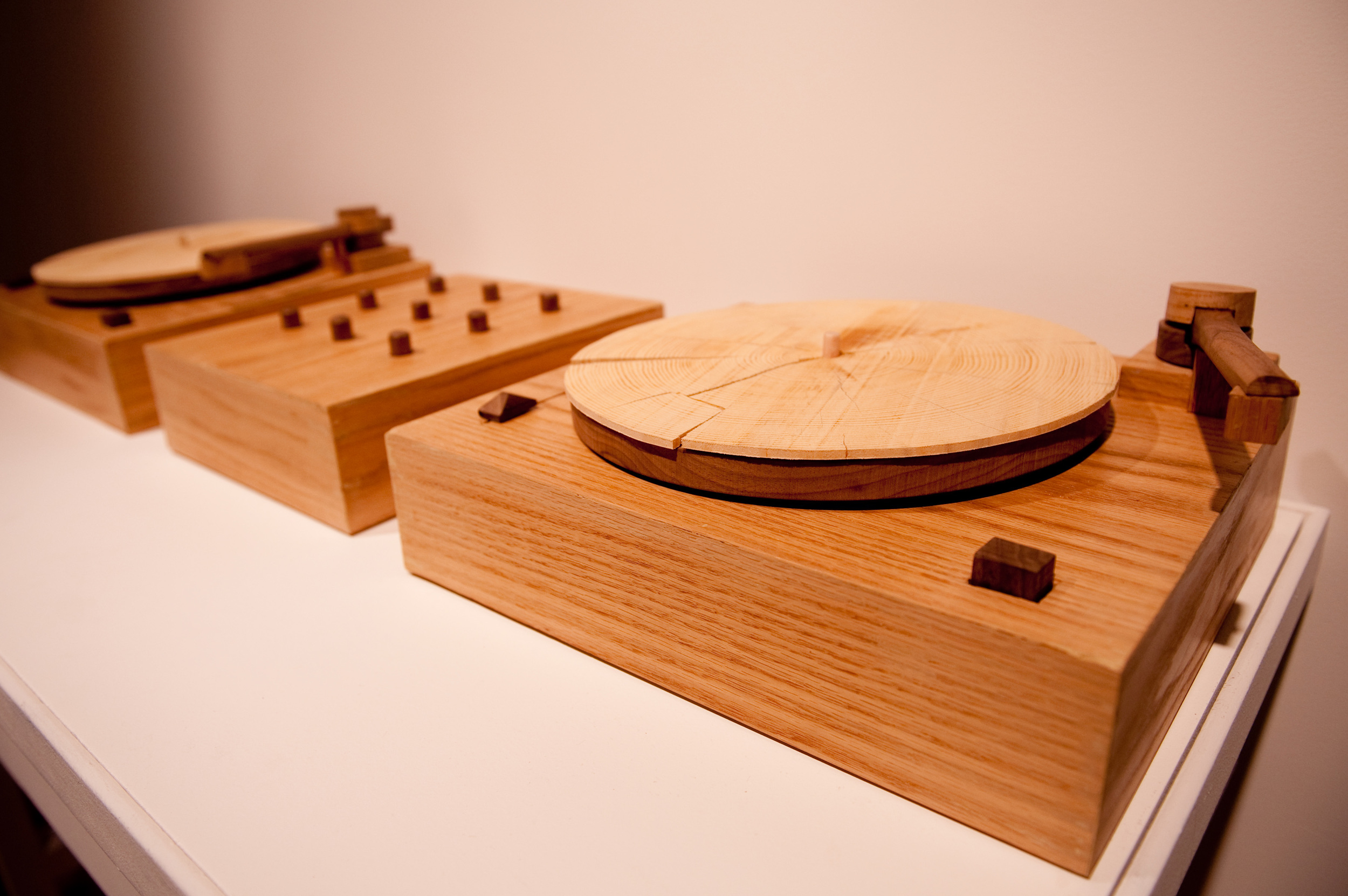 Turning Tables-interactive sculptural sound work 2010-Jordan Bennett.jpg