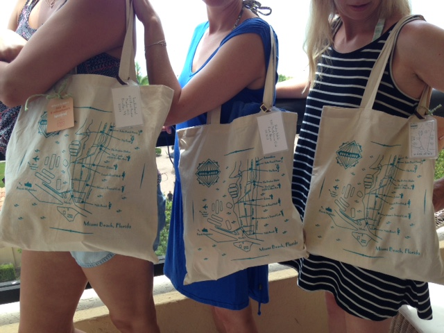 Custom Miami Beach totes!