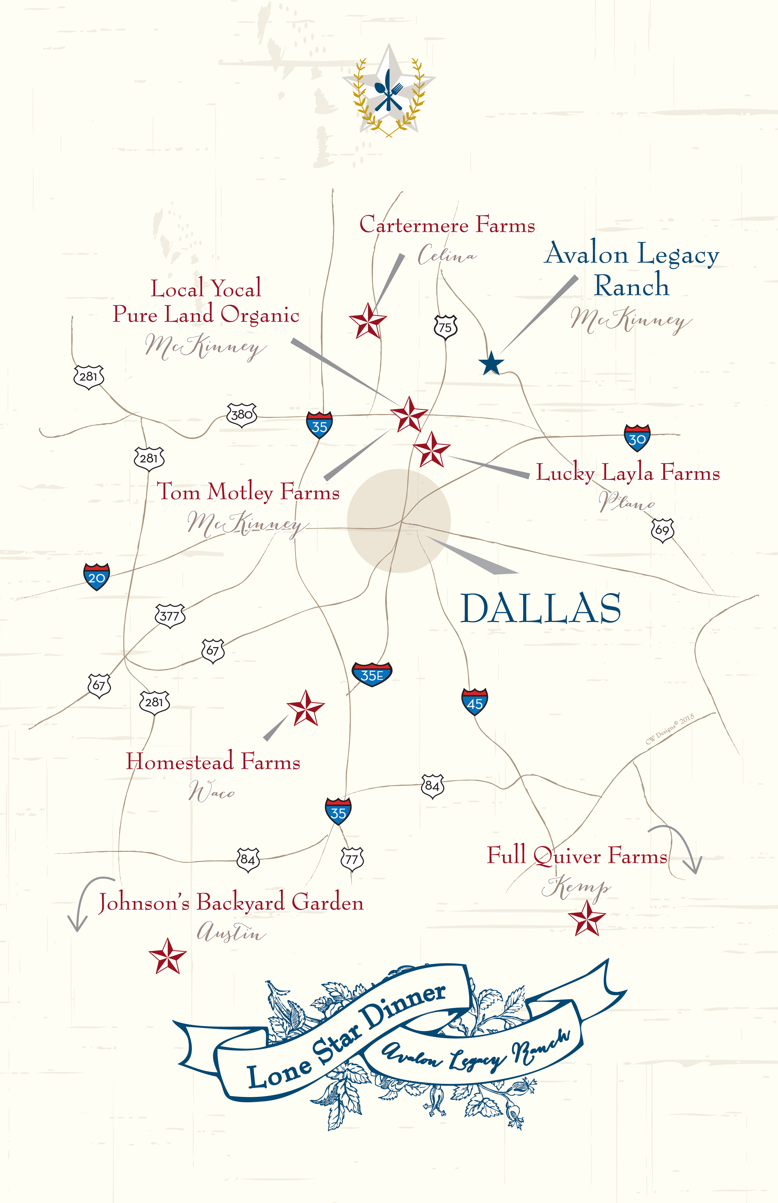 Lone Star Dinner Event Map