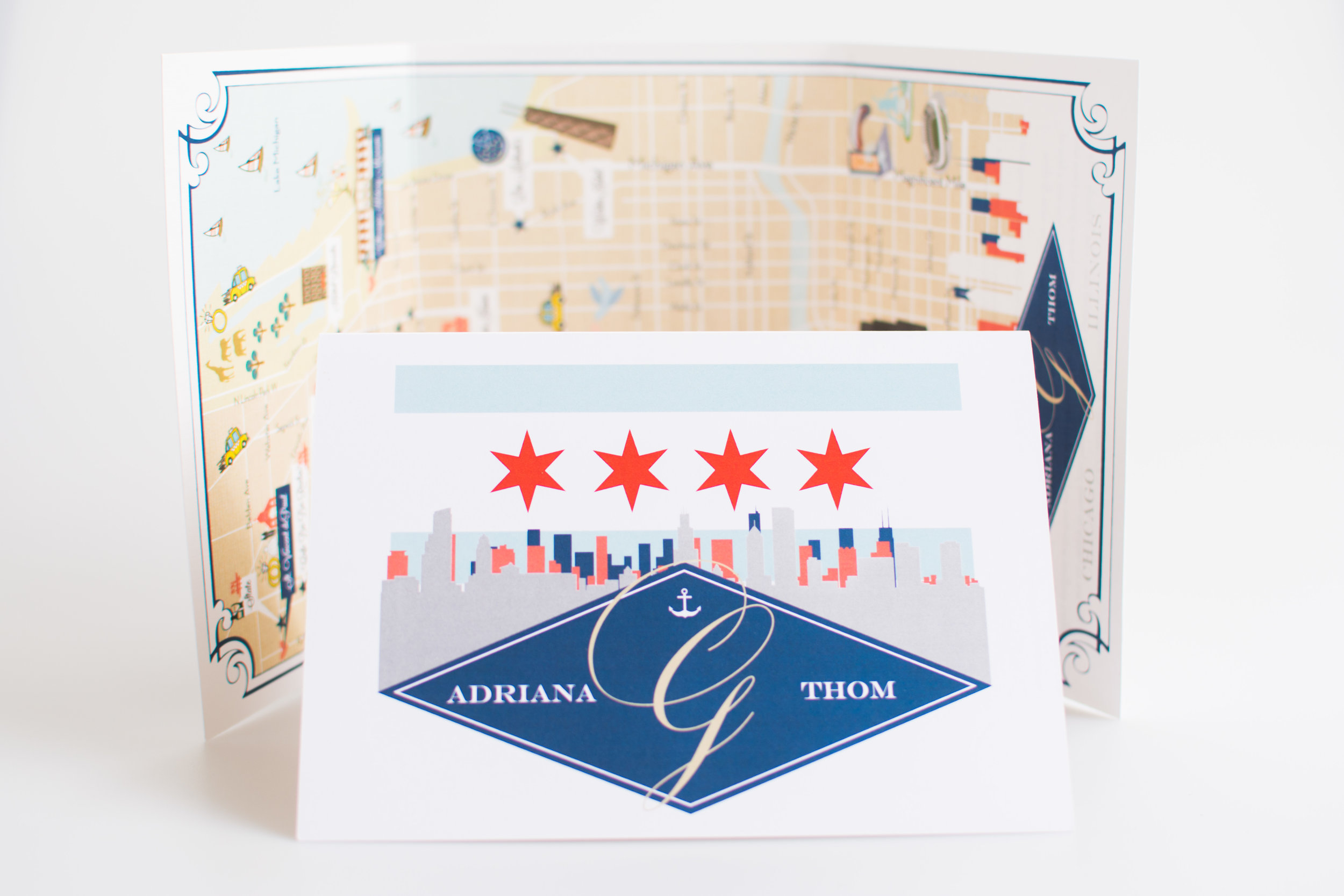 Custom Wedding Map -- Chicago