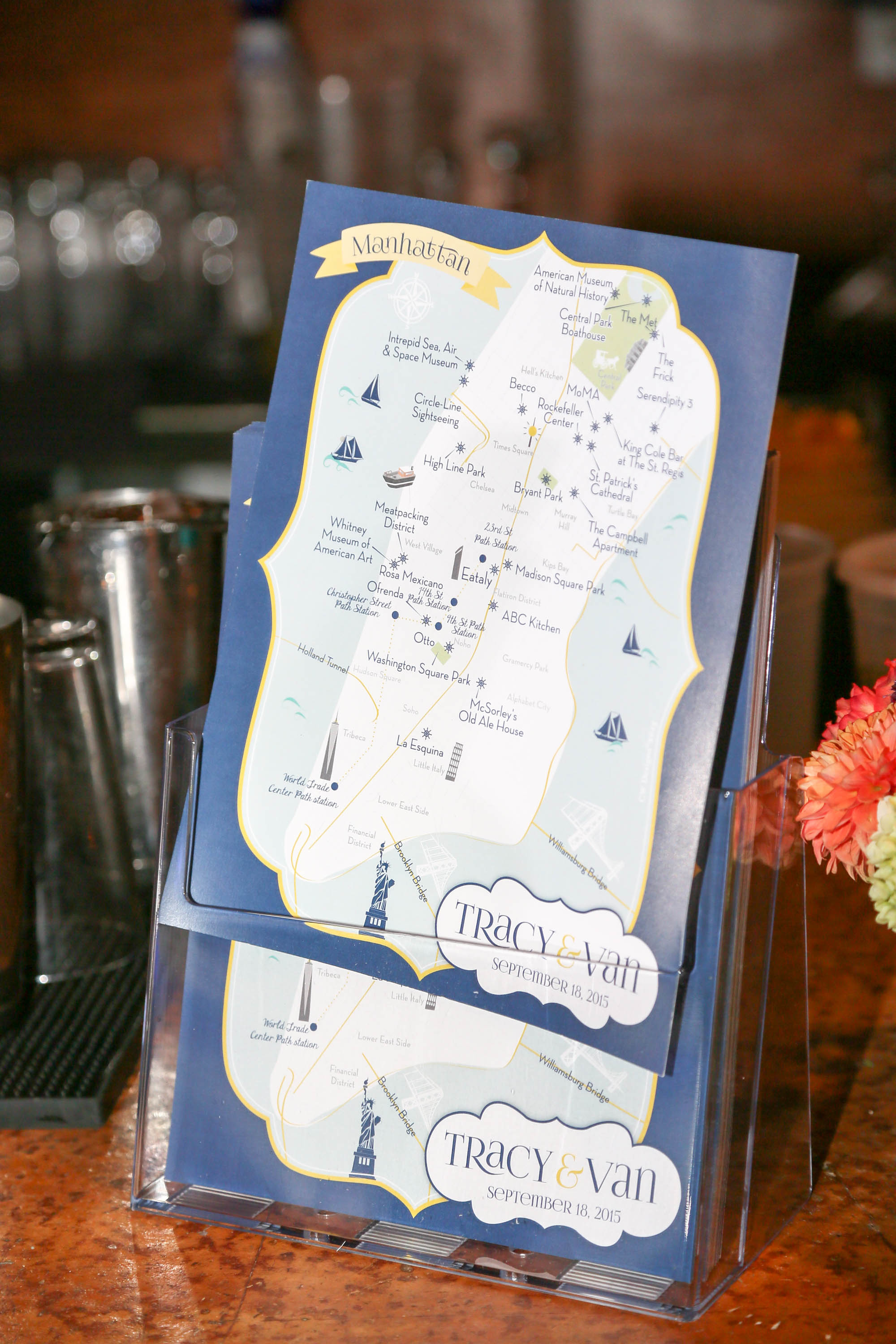 Custom Wedding Map --NYC