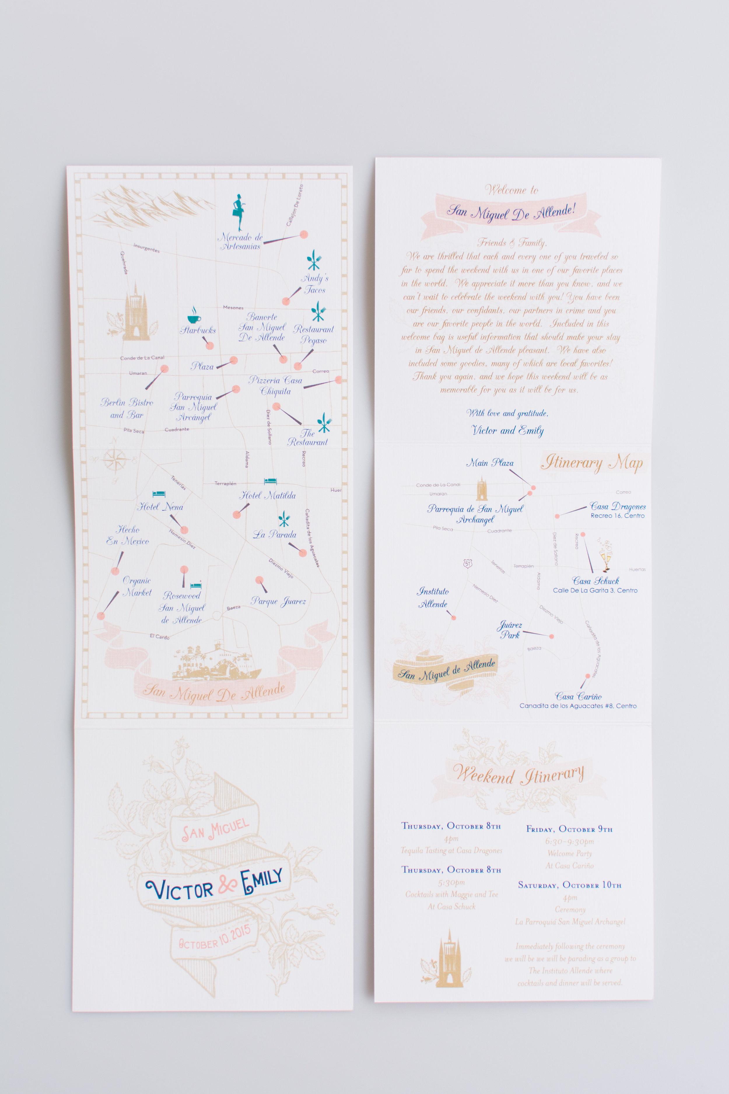 Mexico Wedding Map Itinerary