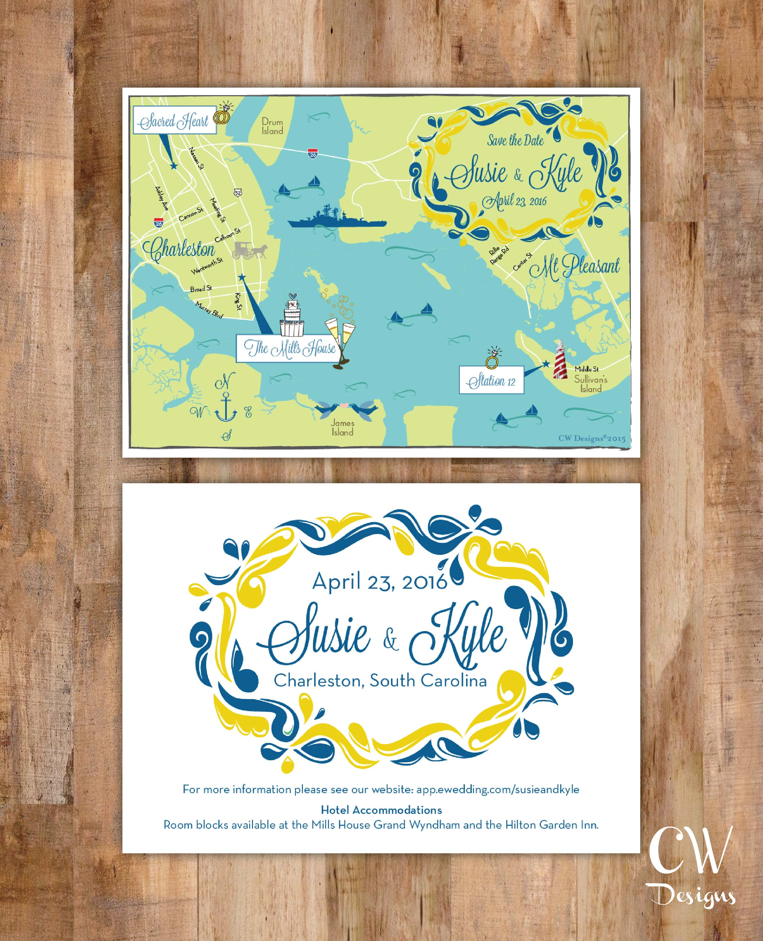 Charleston SC Custom Wedding Map.jpg