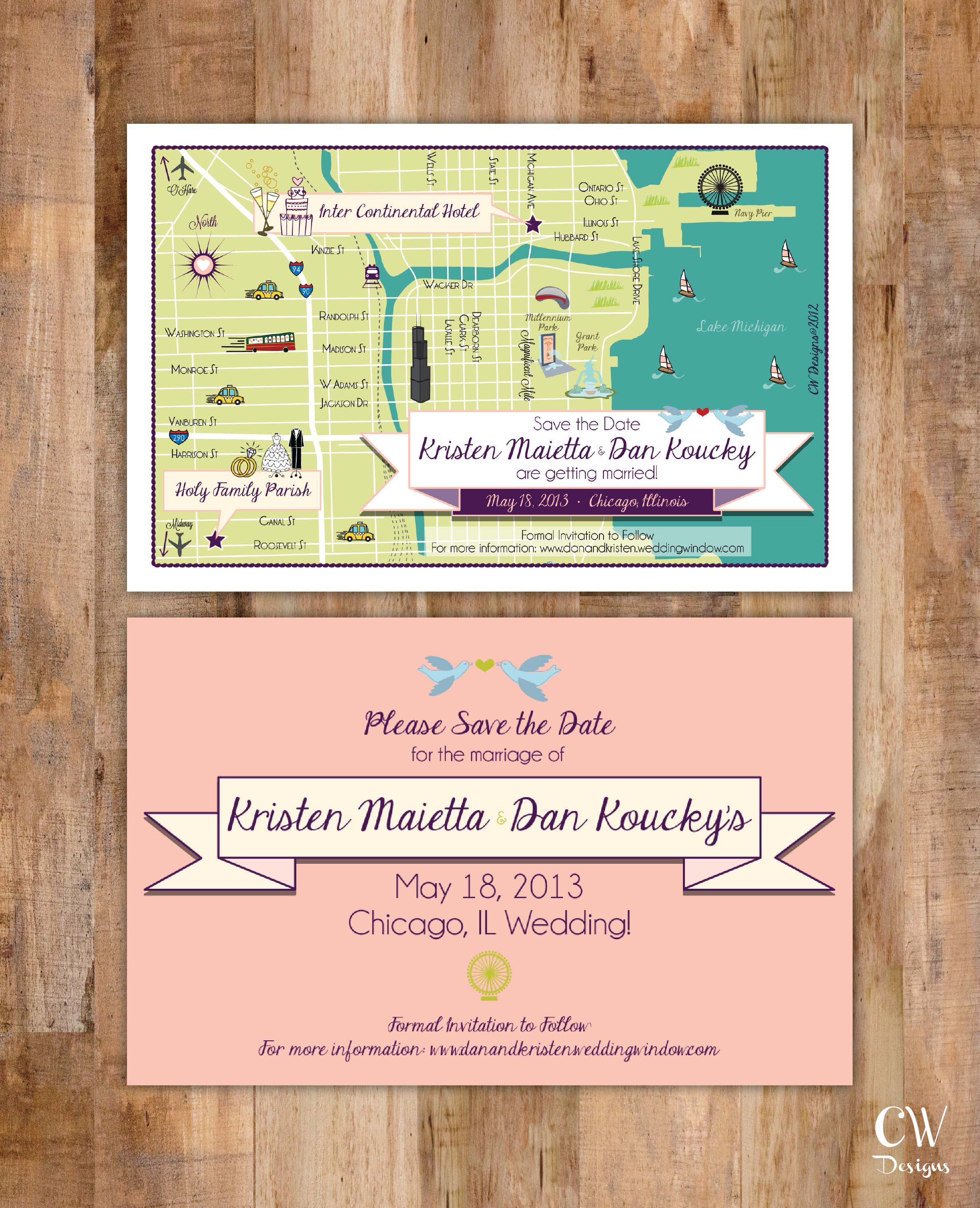 Chicago City Wedding Map Save the Date.jpg