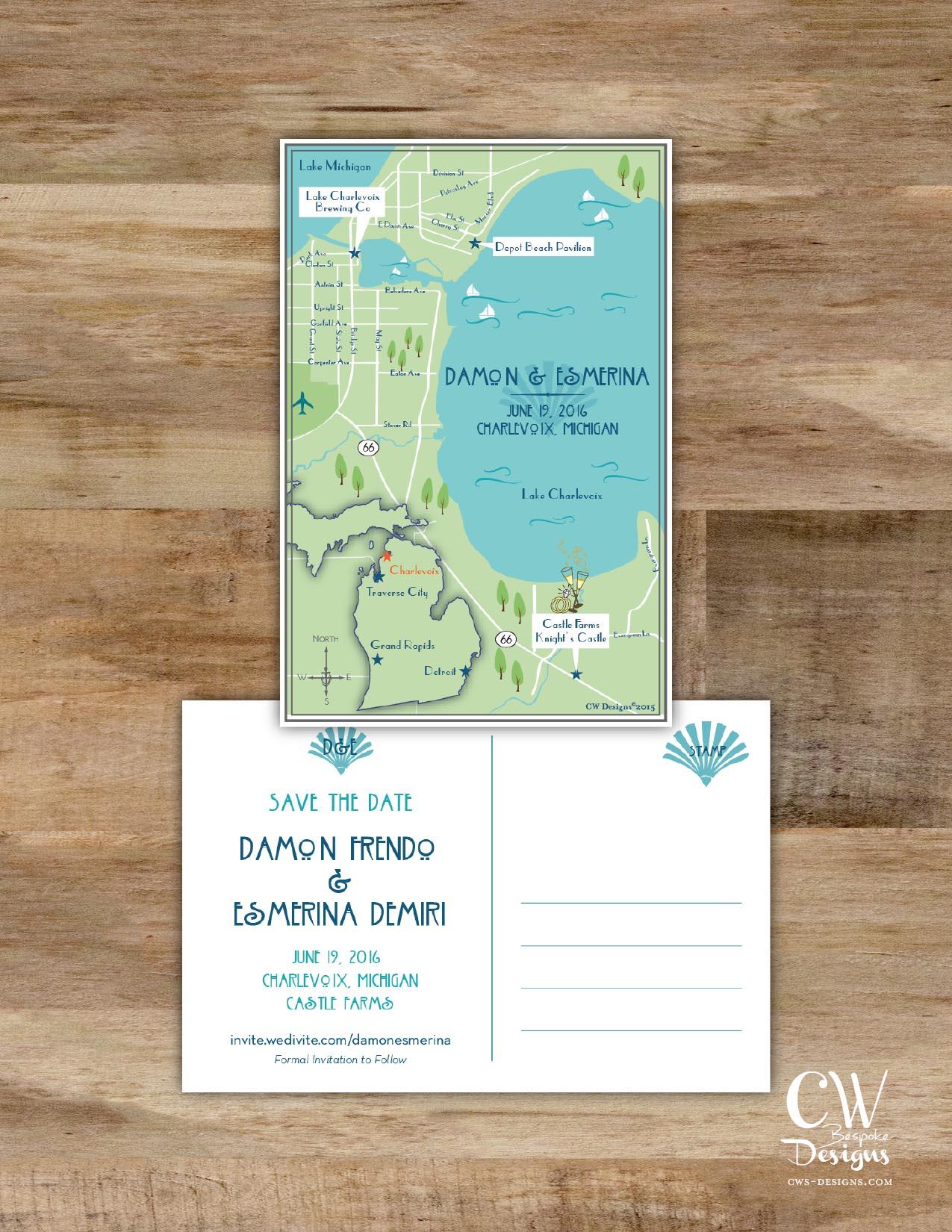 Michigan Wedding Map Art Deco.jpg