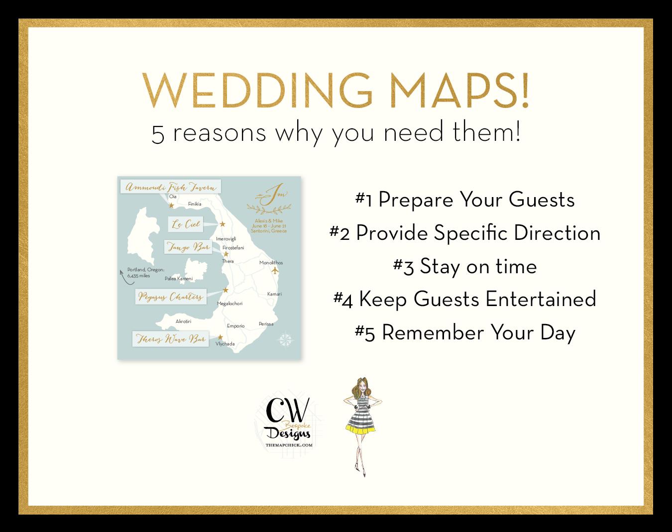 5 reason need wedding map
